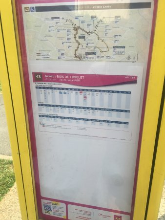 Residence Du Parc Val d'Europe: Bus timetable to the centre of Val D'Europe