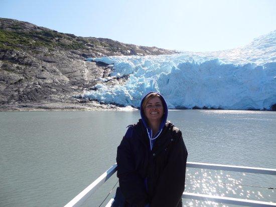 Holgate Glacier: Em uma das embarcações que fazem o cruzeiro na região.