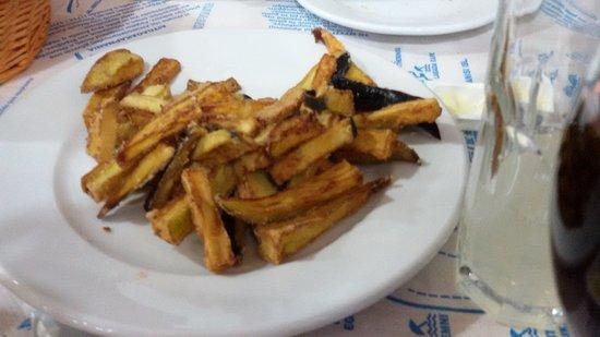 George's Place : Fried aubergine