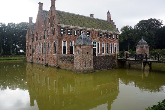 The Netherlands: Outside view with moat