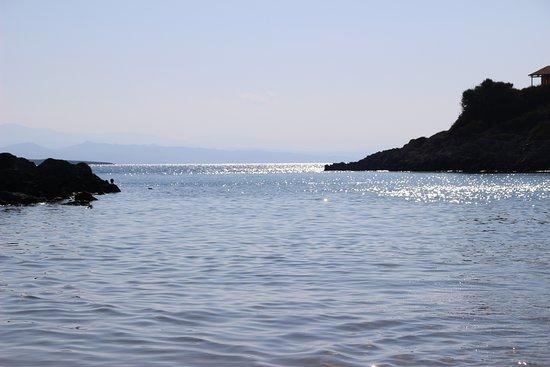 Tersanas, Greece: Vue de la plage