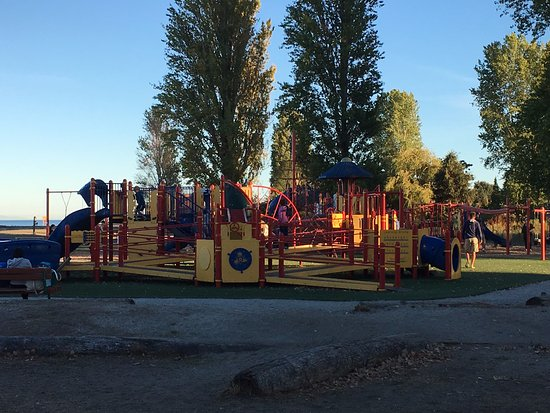 Centennial Beach: Huge, safe, and relatively new playground for the children