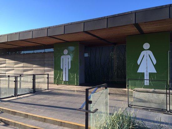 Centennial Beach: Clean bathroom and change room