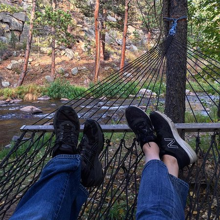 Dripping Springs Resort: Hammock by river, just steps from room