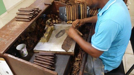 Cabarete, République dominicaine : cigar factory step 4