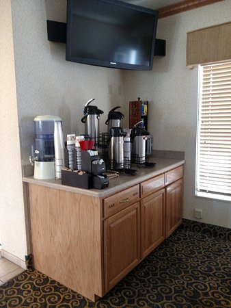 Napoleon, OH: coffee is available 24 hours a day in our lobby.  Plus each room has a coffee maker