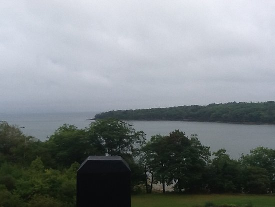 Rockport, ME: Foggy morning from balcony.