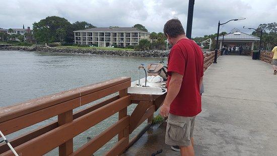 St Simons Island, Georgien: Pan fish for dinner.
