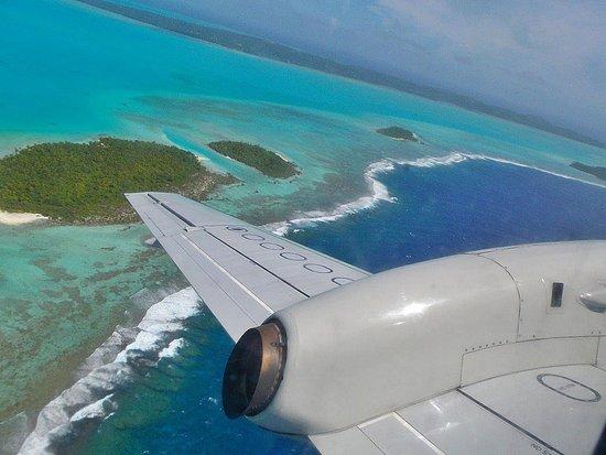 Tamanu Beach: Im Anflug auf Aitutaki