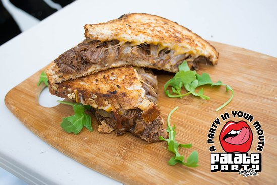 Rumor's Bar and Grill :  BBQ Short Rib Grilled Cheese