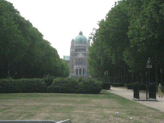 Koekelberg, Bélgica: Blick auf di Basilika
