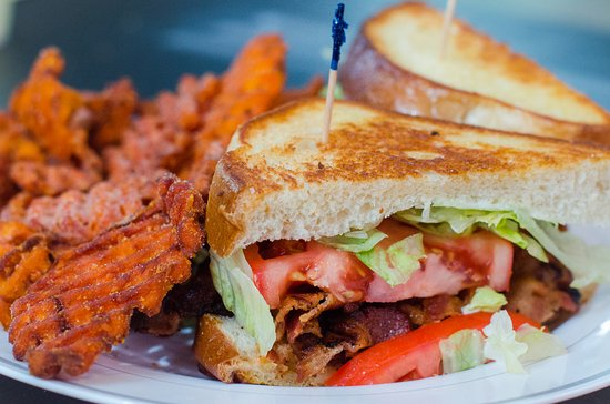 Village Grill and More: BLT with Sweet Potato Fries