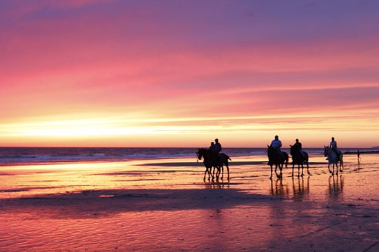Canoa, Equador: Sunset rides