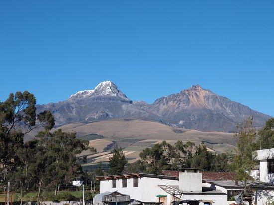 Chuquiragua Lodge & Spa: Uitzicht op één van de vulkanen