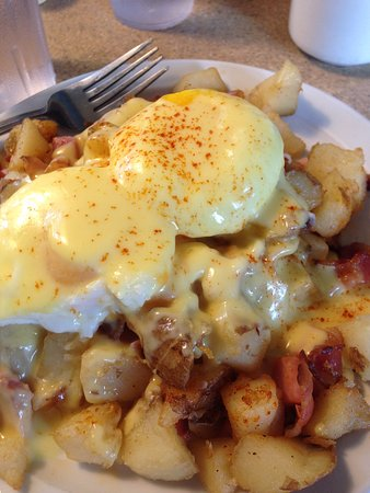 Richards Landing, Canadá: The Breakfast Poutine... mmmm
