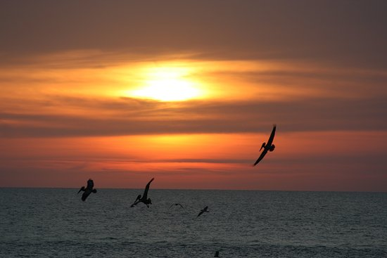 Sand Pebble Resort: Every single sunset is like this, beautifullllll
