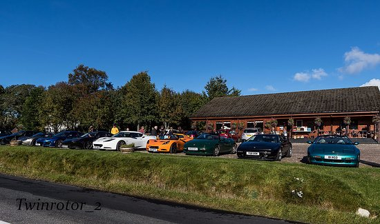Strathdon, UK: The Lotus Enthusiasts Group Scotland descend on Tea Room. They coped admirably with us!