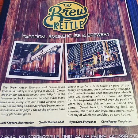 Brew Kettle Taproom & Smokehouse: Excellent food and craft brews!