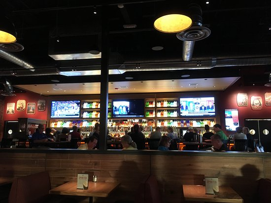 The Well Stocked Bar Picture Of Bj S Restaurants Brewhouse Cary