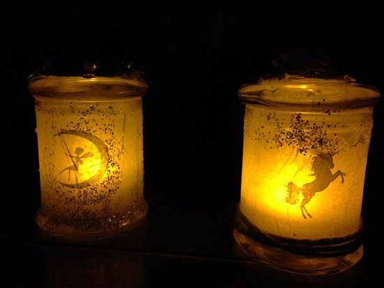 Smithton, Австралия: Beautiful fairy jars my 2 daughters made at the candle art classes