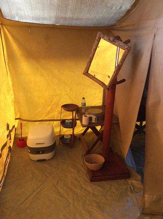 Serengeti Tented Camp - Ikoma Bush Camp: Toilet area in tent