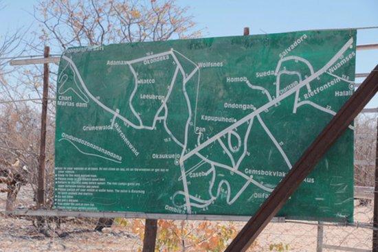 Etosha National Park - map