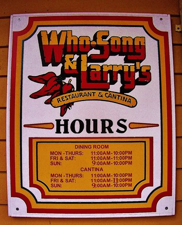 Vancouver, Waszyngton: sing on building with their hours