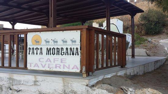 Fata Morgana - Paradisos, Tavern & Cafe: Fata Morgana Cafè Taverna, Fragkokastello, Creta, Grecia (settembre 2016)