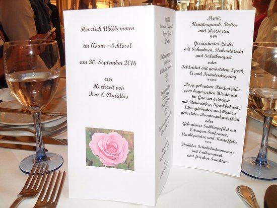Asam Schloessl: Speisekarte
