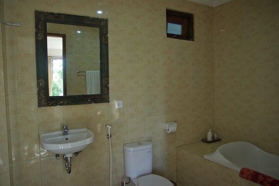 munduk sari nature garden villa salle de bain n109