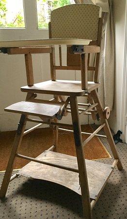 The Waltons: Vintage high chair on the half landing.