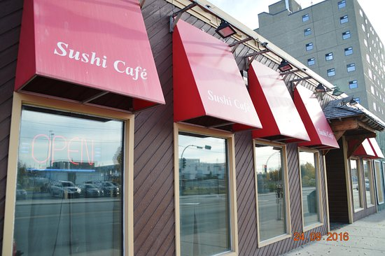 Sushi Cafe: The curtains were pulled but the inside was warm and receptive