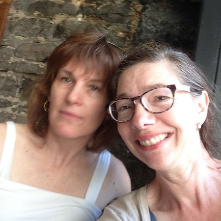 Alexandria, Canada: Elaine and AnnA Sabourin. Beautiful original stone walls!
