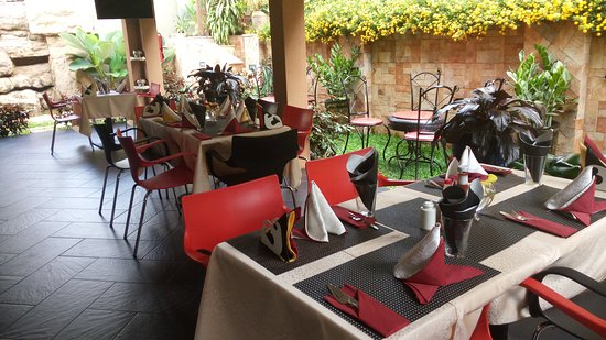 Fine Dining With A Beautiful Ambience And Mellow Radio Tunes Restaurant Picture Of Premiere Boutique Hotel Kampala Tripadvisor