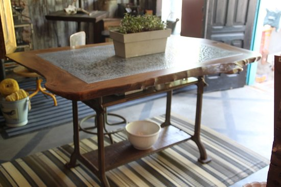 Lambertville, NJ: This Beautiful Zinc and Live Edge Table is Perfect for any Custom Kitchen!
