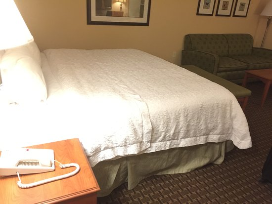 Hampton Inn Leesburg - Tavares : Comfortable bed with plenty of space in the room