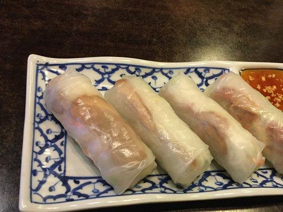 Duck Spring rolls Racha Thai Restaurant