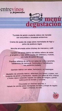Menu degustaci n fotograf a de restaurante entrevinos y for Alberca restaurante