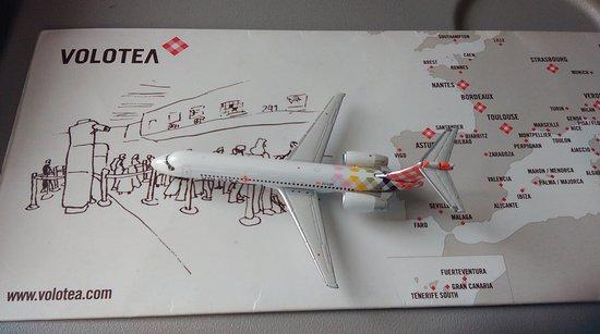 la miniature du boeing 717 volotea en métal au 1 400 à bord du