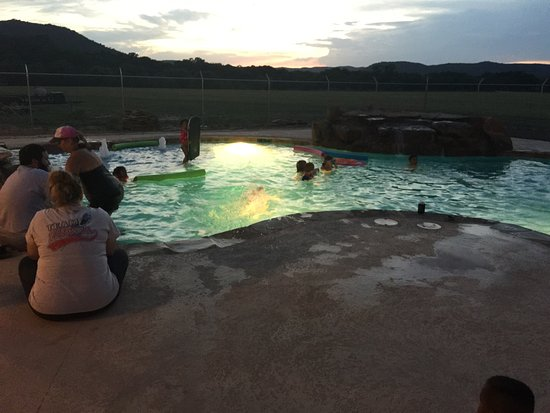 Concan, TX : Night Swim!
