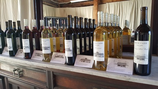 Brook Farm Vineyards: Our wine selection