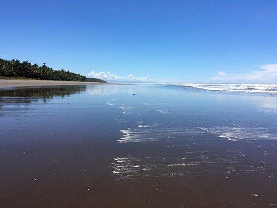 Playa Bejuco, Costa Rica: Vista hacia el sur. Se aprecia el ancho de la playa.