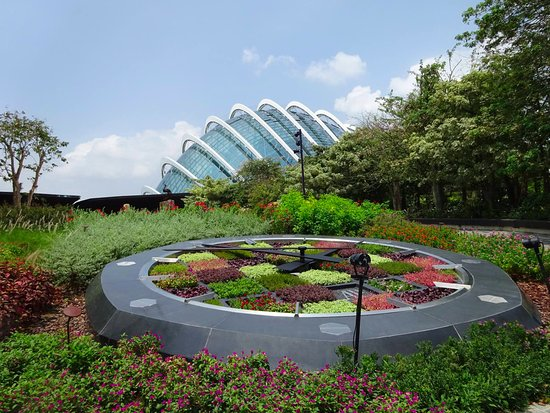 Garden By The Bay Bus smoking area at the bus parking area - picture of gardensthe