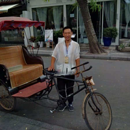 Chongming County, Κίνα: Our wonderful Hutong driver - an experience not to be missed! Incredible.