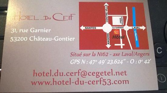 Hotel du Cerf: Plan d'accés