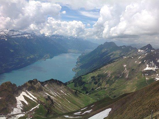 Brienz Rothorn Bahn: Looking down on Lake Brienz