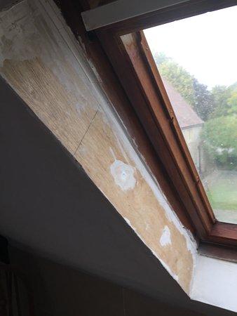 Abbots Salford, UK: window unfinished