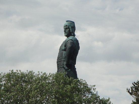 Vangsnes, Norvège : A grande estátua de Fridtjof.