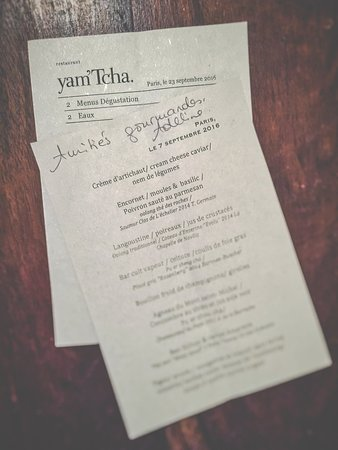 Tcha Paris the menu - picture of yam'tcha, paris - tripadvisor