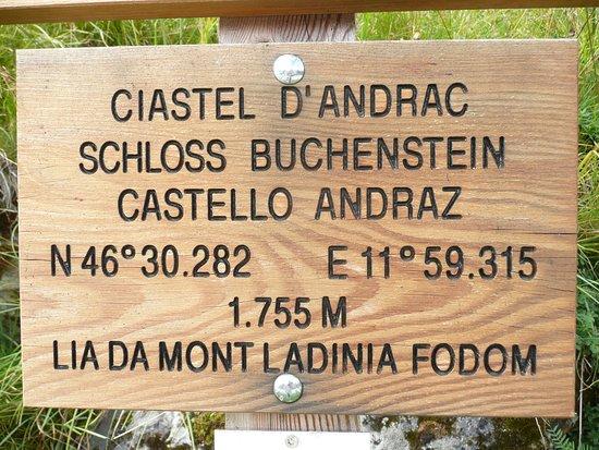 Castello di Andraz: nähere Bestimmungsdaten